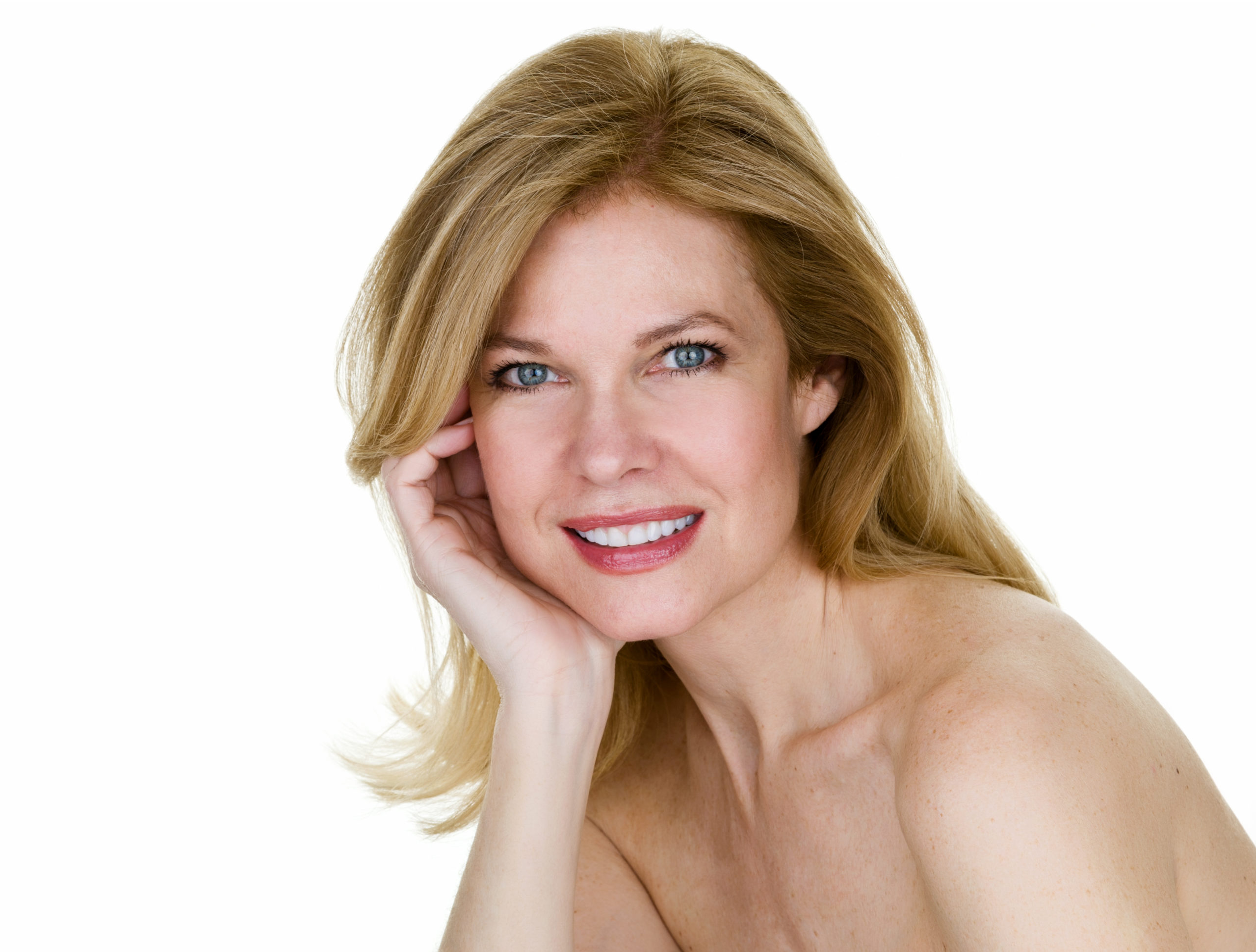 beautiful woman happy after getting botox highlands ranch style